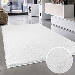 Teppich Uni Langflor Shaggy Modern Einfarbig Rechteckig Wohnzimmer  Schlafzimmer, Größe In Cm:60x110 Cm