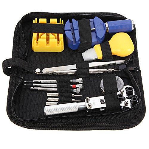 Guardare Riparazione Tool Kit Caso Impostare Collegamento Apertura A Molla Pinzette