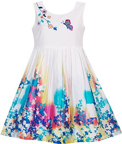 Mädchen Kleid Schmetterling Ich Suche Blume Stickerei Chinesisch Stil Gr.104