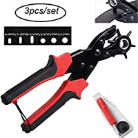 Puncher Tool Drift Punches Leather Hole Punch for Belt, Saddle, Tack, Watch Strap, Shoe, Fabric, Eyelet