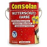 Consolan Wetterschutzfarbe 750 ml, Schwedenrot