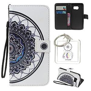 für Samsung Galaxy S7 Hülle Brieftasche Schutzhülle, Malerei PU Lederhülle Flip Hülle im Bookstyle Cover Schale Stand…