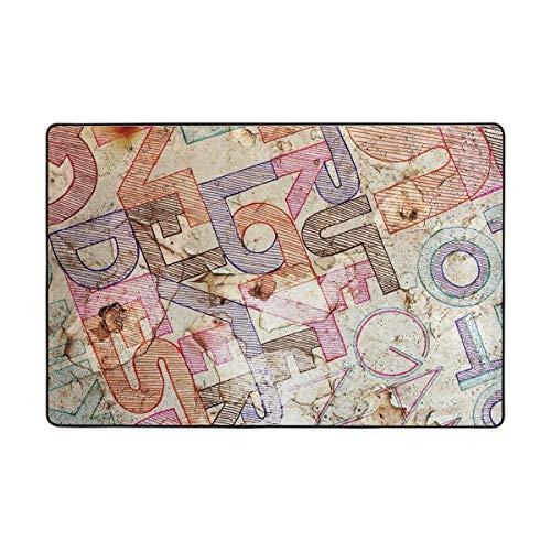 Perser Antik Teppich (Vipsa Teppich, Polyester, rutschfest, 91,4 x 61 cm, für Wohnzimmer, Esszimmer, Schlafzimmer, Küche, antike Bar-Buchstaben, Polyester-Mischgewebe, Multi, 72 x 48 inch)