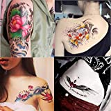 Dalin 4 Sheets Fashion Temporary Tattoos, Lotus, Fish, Wings, Sexy Lady