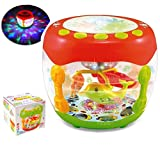 #7: MousePotato Flash Drum Rotating 3D Lights & Fishes with Music, Songs & English Leraner