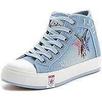 high-top scarpe estate e autunno/ Gli studenti scarpe tessuto denim/Marea