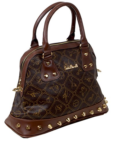 Giulia Pieralli, Borsa bowling donna Marrone (Coffee/Brown)