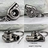 nabati? Creative Spinning Turbo Schlüsselanhänger Fashion Auto Teil Modell Auto Fan 's Favorite Turbine Turbolader Schlüsselanhänger Ring Schlüsselanhänger (schwarz)