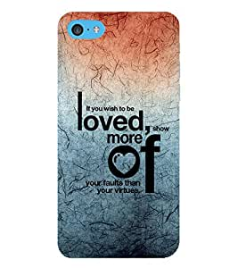 EPICCASE love and to be loved Mobile Back Case Cover For Apple iPod Touch 6 (Designer Case)
