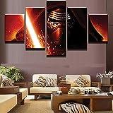 sanjiiNG 5 pannelli film Darth Vader spada laser tela pittura murale stampe d'arte decorazioni per la casa per soggiorno40cmX60cmX2 40cmX80cmX2 40cmX100cmX1