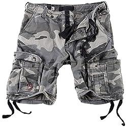 Surplus Hommes Airborne Vintage Shorts Délavées Night Camo taille 5XL