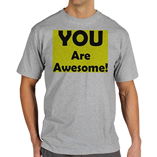 You Are Awesome Yellow Background Herren T-Shirt Grau