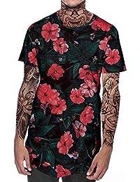 5e8918fd32 LMRYJQ-Nueva Camiseta de Verano para Hombre con Cuello Redondo