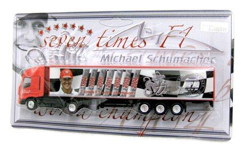 model-formula-one-1-f1-michael-schumacher-ferrari-truck-new