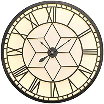 Grand Central Extra Large Illuminated Wall Clock Amazon