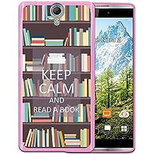 Funda Orange Nura 2, WoowCase [ Orange Nura 2 ] Funda Silicona Gel Flexible Keep Calm and Read a Book, Carcasa Case TPU Silicona - Rosa