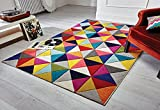 Rugs With Flair Spectrum - Alfombra/Tapete con diseño Moderno y Abstracto Samba 80 x...