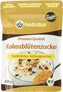 Naduria  Bio Kokosblütenzucker natürlicher Zuckerersatz - im wiederverschließbaren Beutel, 3er Pack (3 x 350 g)