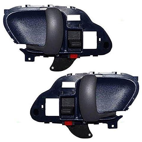 Driver and Passenger Inside Inner Blue Door Handles Replacement for Chevrolet GMC Pickup Truck 15708045 15708046 by AUTOANDART - Maniglia Blue Door