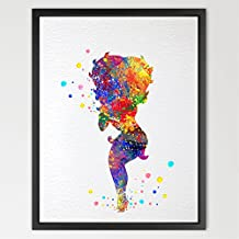 dignovel Studios Betty Boop acuarela Art Print Wall Art Póster de colgante de pared decoración del hogar las niñas habitación arte inspirador de motivación regalo regalo de cumpleaños n040-unframed N040-Betty Boop Talla:A4: 21.0 x 29.7cm