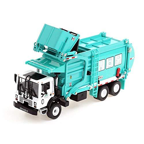 Chaiyan 1/24 diEcast Reciclaje Basura camión diEcast Material transportador Juguetes para niños,Green