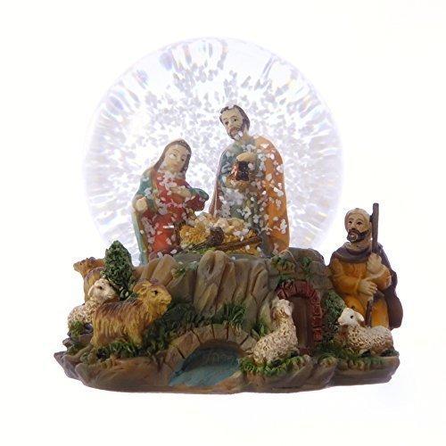 Belén de Navidad bola de nieve regalo de elefante 10cm sagrada famili