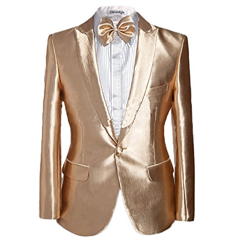 Cloud Style Herren Anzug Gr. XXXXX-Large, gold (Gilet De Costume Noir Homme)