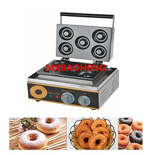 5pcs Donuts gaufrier antiadhésif 1500W électrique Donut Donut Maker fer machine Donut machine à chaud