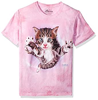 The Mountain Pounce Chicken Kids Tee, T-Shirt Enfant-Mixte, Rose, L