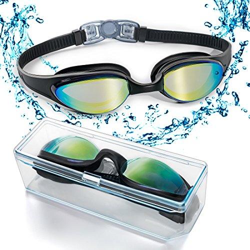 ZetHot Schwimmbrille Schwimmbrille mit flexiblem Weichen Nasenstück und Farbiger Spiegellinse,dicht und geschützt vor beschlagen und UV Licht Triathlon Schwimmbrille für Erwachsene Männer Frauen