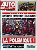 AUTO HEBDO [No 920] du 23/02/1994 - CABRIOLET 306 - GOLF - F1 - ACCELERATEUR...