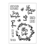 Xurgm Sprüche Silikonstempel Set - Clear Stamps - Stempel - transparent