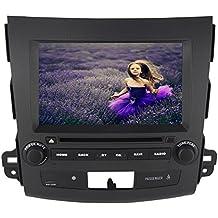 """roverone 8""""Android 6.0Octa Core para Mitsubishi Outlander 2007–2011Autoradio coche reproductor de DVD con GPS navegación Radio estéreo Bluetooth Espejo Enlace pantalla táctil"""