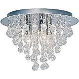 Nino Leuchten Deckenleuchte London / Durchmesser: 38 cm / Chrom, Glasbehang / 3-flammig 63040306