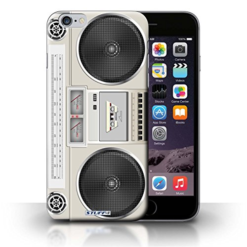 KOBALT® Hülle Case für iPhone 6+/Plus 5.5 | VHS-Kassette Video Entwurf | Retro Techik Kollektion Boombox