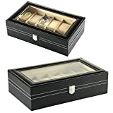 12 Watch Display Box Case Faux Leather Bild 3