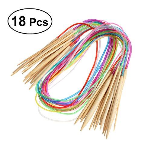 Healifty 18 Paare 100cm Rundstricknadeln Set Tube Circular Knitting Crochet Nadeln