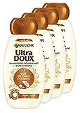 Garnier Ultra DOUX Shampooing Lait de Coco Macadamia 250ml - Lot de 4