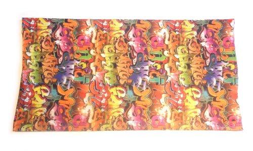 PRESKIN - tissu multifonctionnel utilisé comme un foulard, écharpe au cou, cagoule, bandeau, mitaines, chapeau, foulard, écharpe, boucle, bandeau, cache-cou, un foulard de pirat , une jupe ou la ceint 110MultiLoopSpray