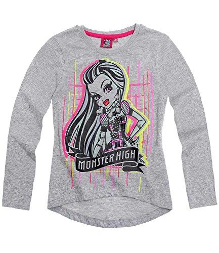 Preisvergleich Produktbild Monster High Mädchen Langarmshirt - grau - 140