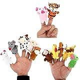 LATH.PIN Baby Fingerpuppen Fingertiere Handkasperletheater Puppets, Set aus Plüsch, Tiere zum Spielen und Lernen