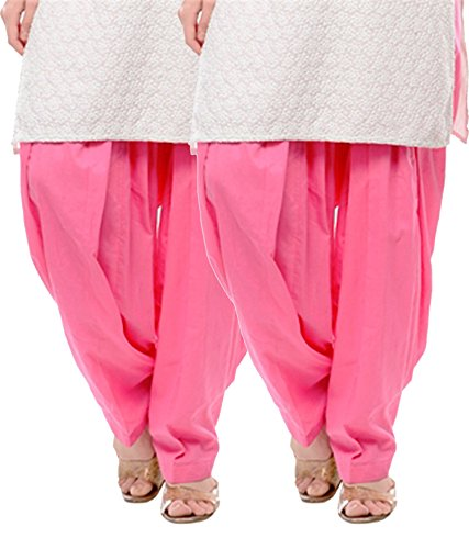 NGT Twin Pink Pure Cotton Patialas For Womens