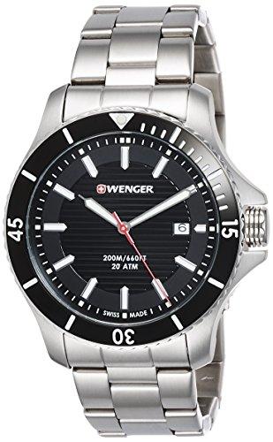 Wenger Wenger Seaforce 01.0643.118 - Reloj de pulsera unisex, Negro/Plata