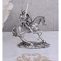 Ritterfigur Ritterrüstung Ritter mit Schwert Sammelfigur signiert