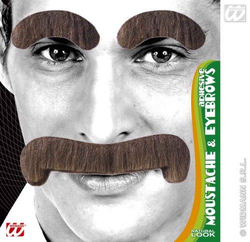 Brauner Schnautzer oder Walross Bart mit (Walross Bart)