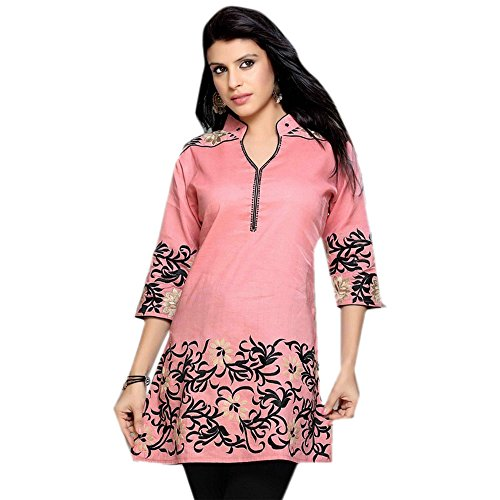 1545 Designs Da donna Plus Size Rose cotone di seta tunica Top Dress Casual Nero