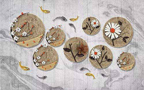 Benutzerdefinierte Größe Tapete Foto Zen Seil Angeln Fisch Wandbild TV Hintergrund Wand Dekoration Wohnzimmer Schlafzimmer 3D Wallpaper 250x175cm -