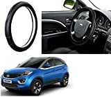 #4: Auto Pearl - Adinox Premium Quality Ring Type Car Steering Wheel Cover (Ultimate Chrome Black) For -Tata Nexon