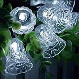 Led Glocke Lichterketten Girlande Lichter Batterie Innendekoration Gartenhaus Hochzeitsfeier @ blau