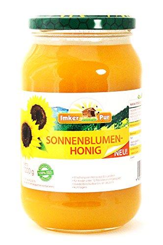 Sonnenblumen-Honig von ImkerPur, 1200g, kaltgeschleudert, fein-fruchtig, mit einer feinen süßsäuerlichen-Note